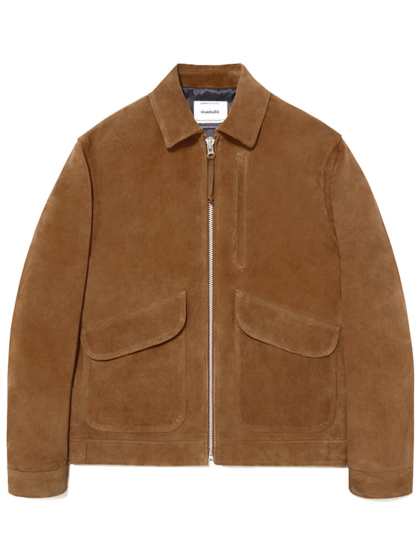 LEATHER CWU JACKET JS [CAMEL]