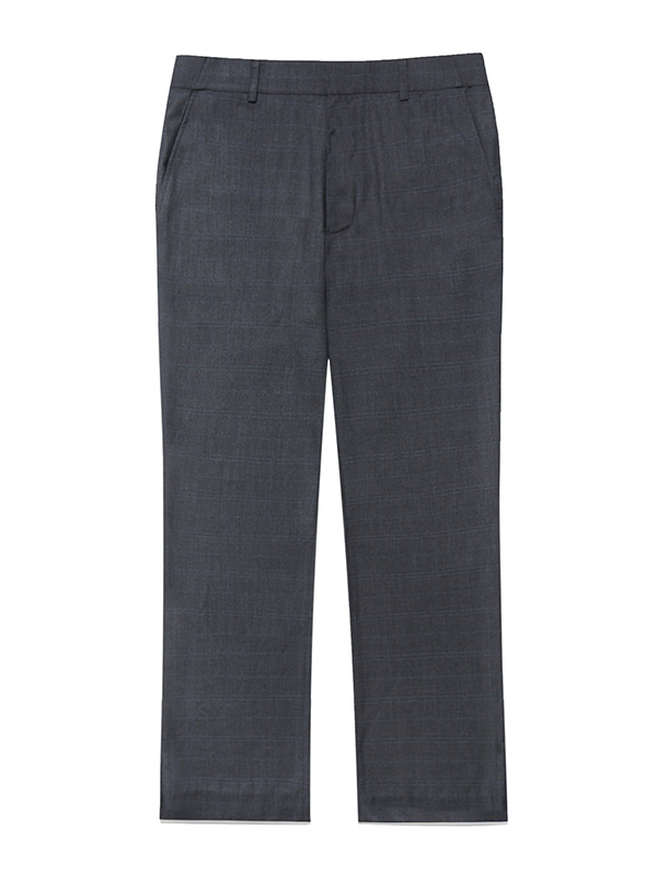 BOOTS CUT SLACKS JS [GREY CHECK]