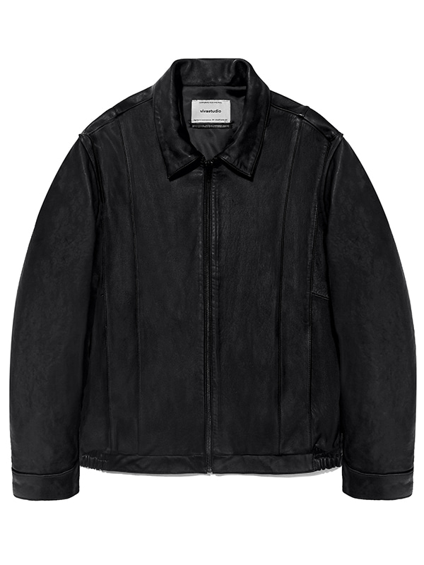 LEATHER BLOUSON JS [BLACK]