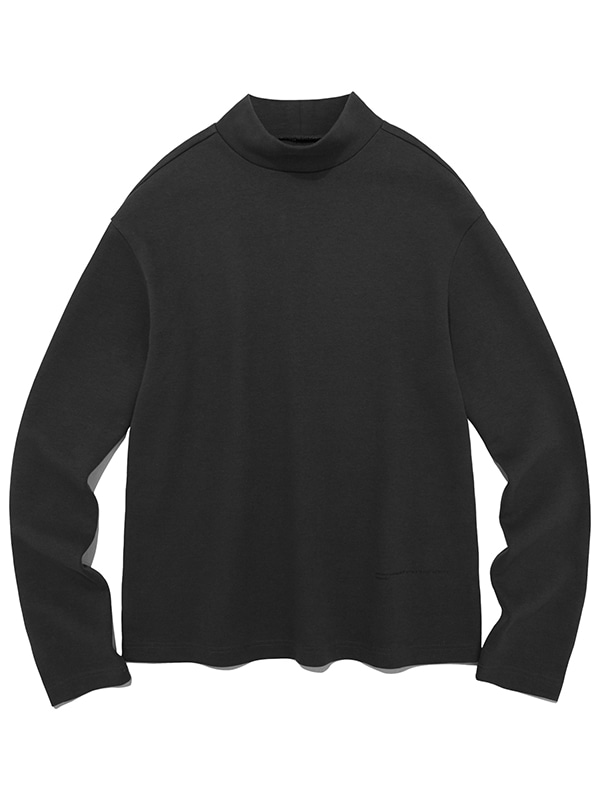 HIGH NECK LOGO LONG SLEEVE JS [BLACK]