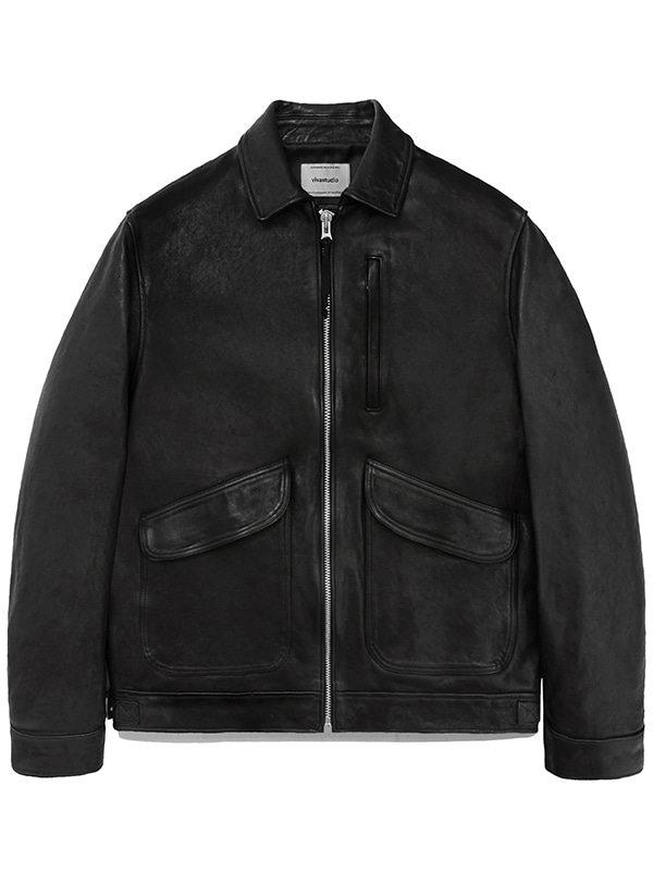 LEATHER CWU JACKET JS [BLACK]