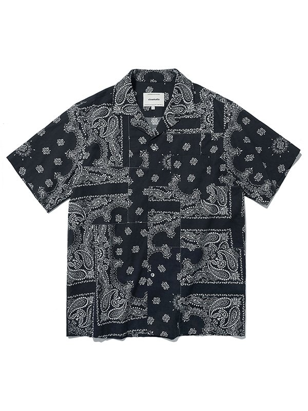 BLOCKING BANDANA SHIRTS JS [NAVY]