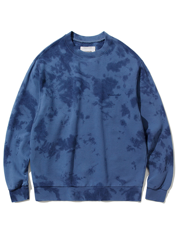 POINT TIEDYE CREWNECK JA [BLUE]