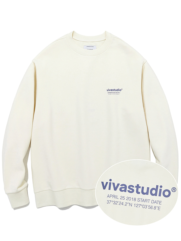LOCATION CREWNECK KS [IVORY]