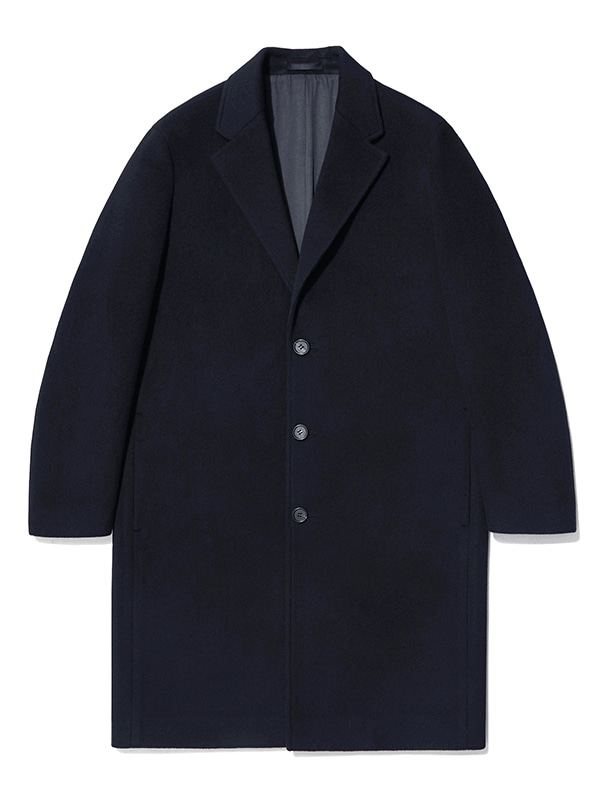 CASHMERE CHESTERFIELD COAT JA [NAVY]