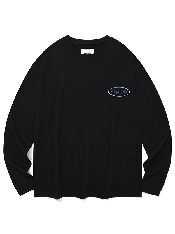 BIG CIRCLE LOGO L/S TEE JA [BLACK]
