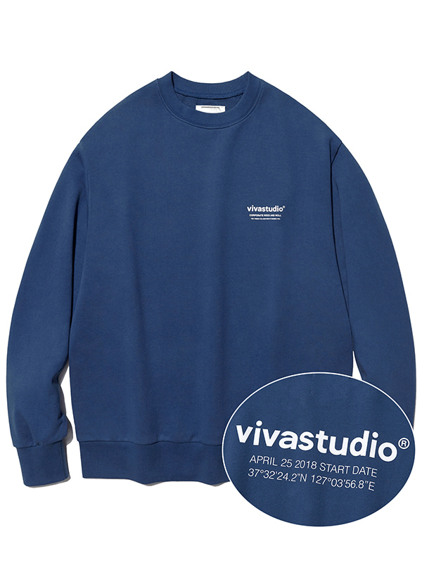 LOCATION CREWNECK KS [INDIGO BLUE]
