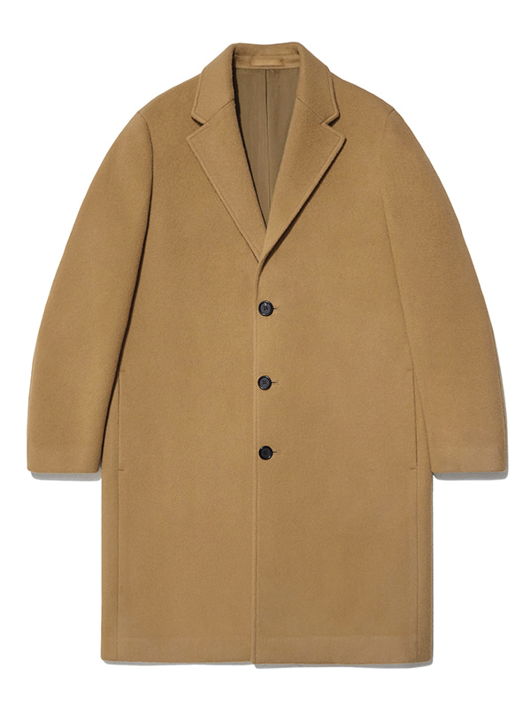 CASHMERE CHESTERFIELD COAT JA [CAMEL]