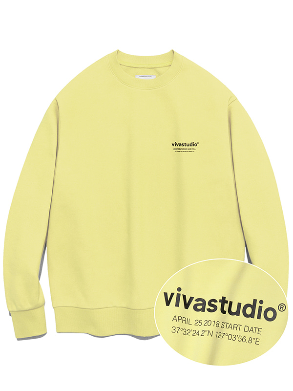 LOCATION CREWNECK JA [PASTEL YELLOW]