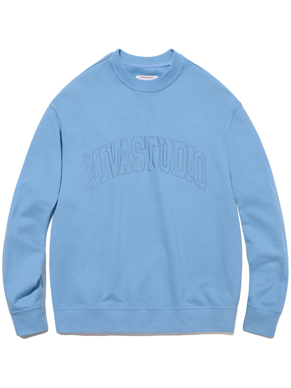 COLLEGE OUTLINE CREWNECK JA [LIGHT BLUE]