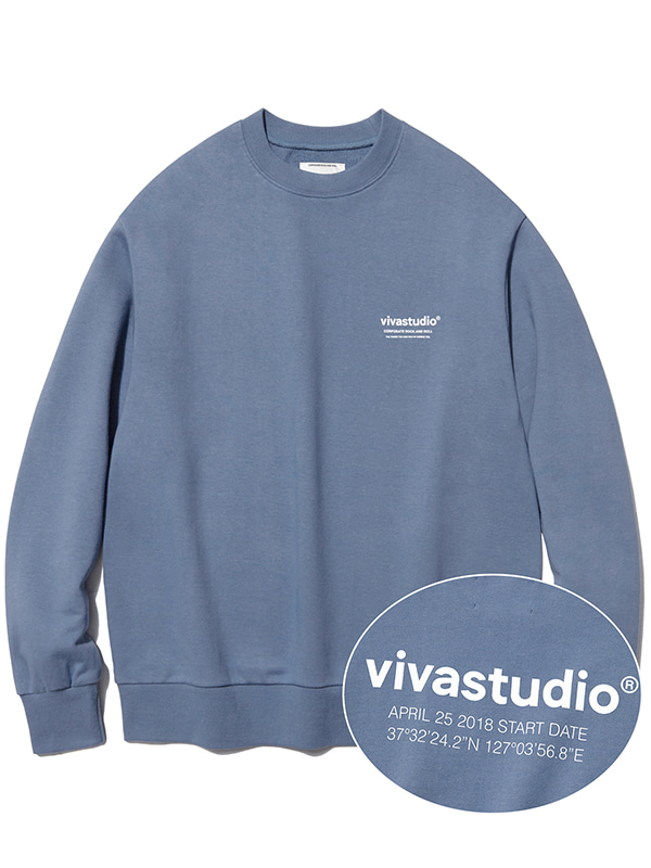LOCATION CREWNECK KS [PASTEL BLUE]