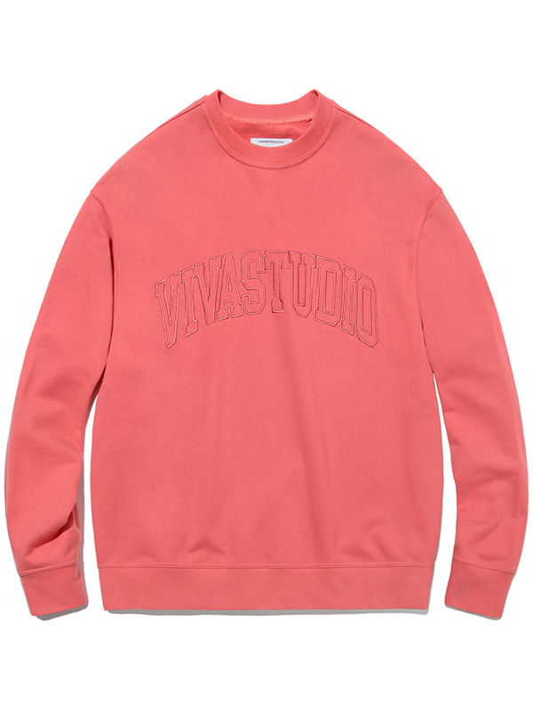 COLLEGE OUTLINE CREWNECK JA [CORAL PINK]