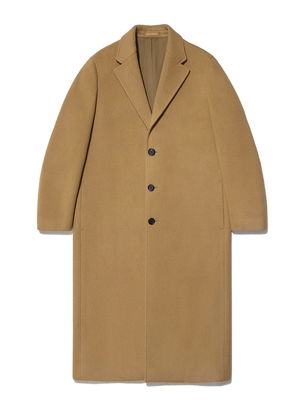 CASHMERE LONG CHESTERFIELD COAT JA [CAMEL]