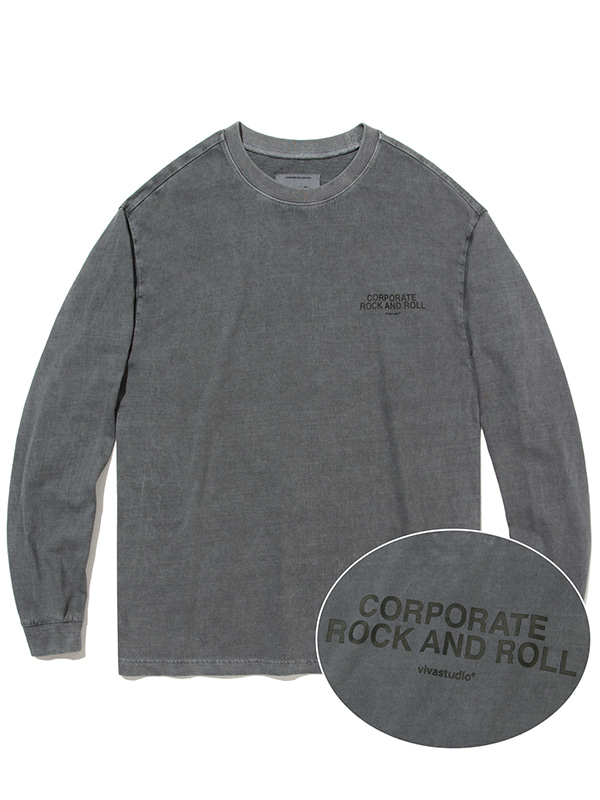CORPORATE PIGMENT L/S TEE JA [GREY]