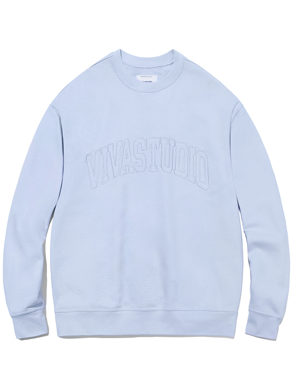 COLLEGE OUTLINE CREWNECK JA [ALICE BLUE]