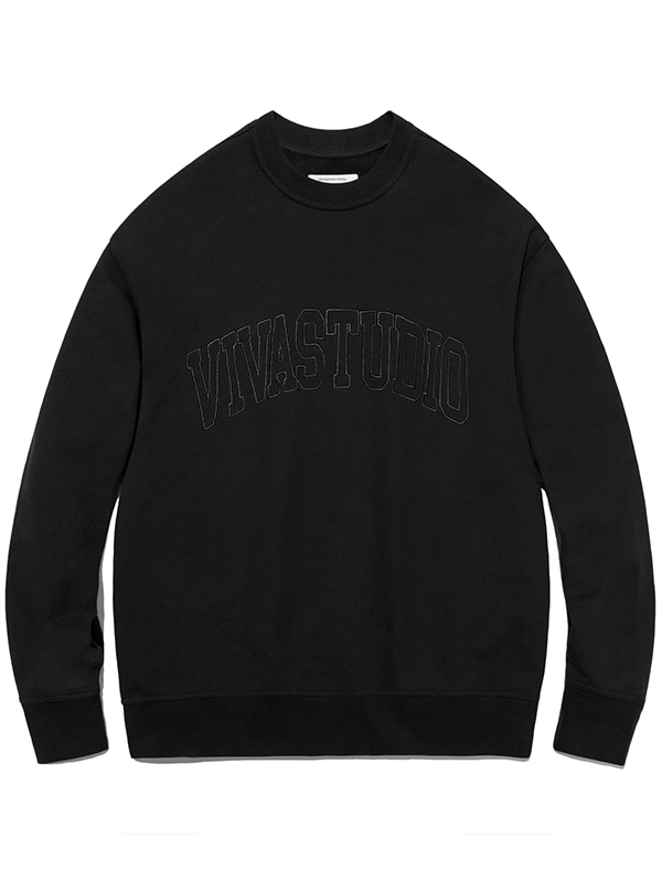 COLLEGE OUTLINE CREWNECK JA [BLACK]