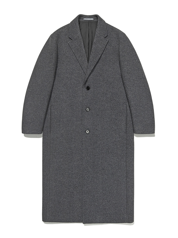 CASHMERE LONG CHESTERFIELD COAT JA [GREY]