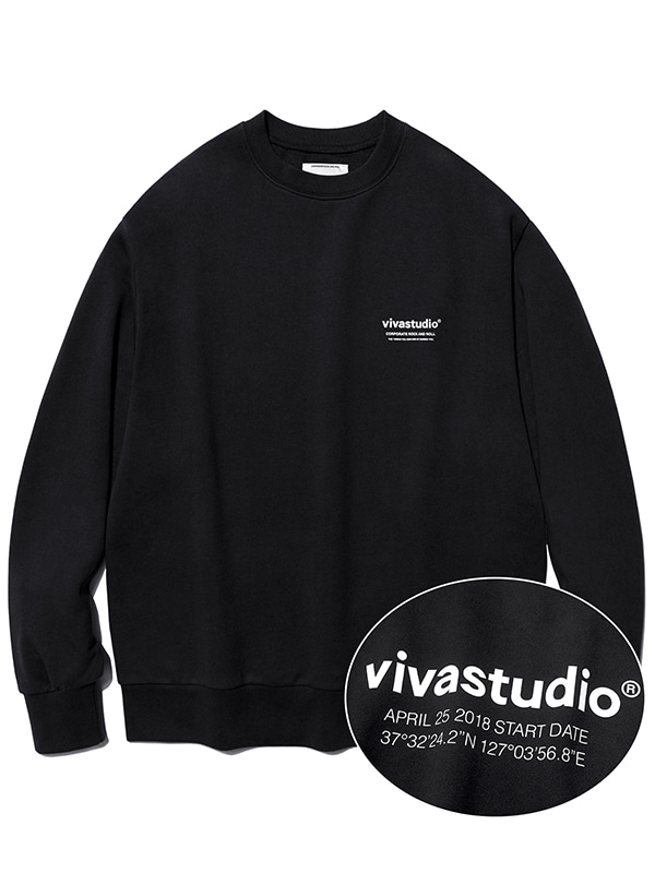 LOCATION CREWNECK KS [BLACK]