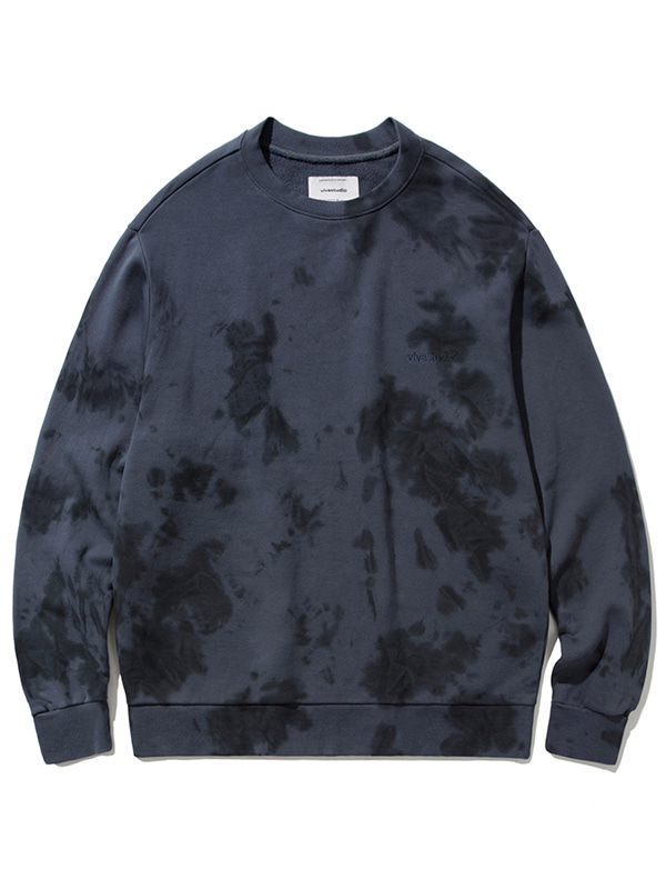 POINT TIEDYE CREWNECK JA [CHARCOAL]