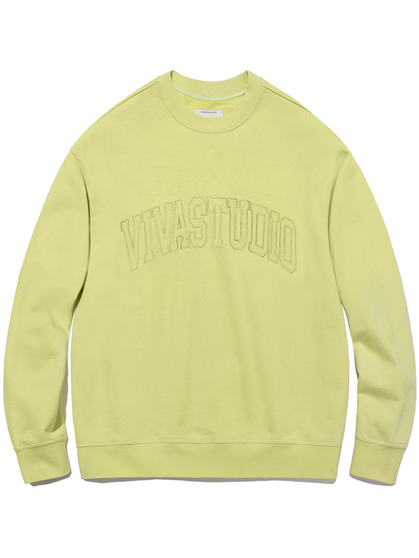 COLLEGE OUTLINE CREWNECK JA [LIGHT GREEN]