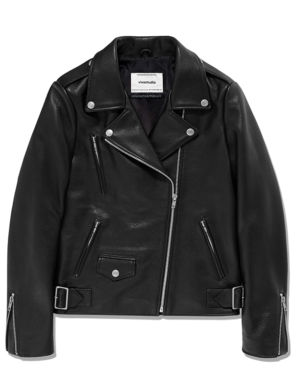 JANIS RIDERS JACKET JA [BLACK]