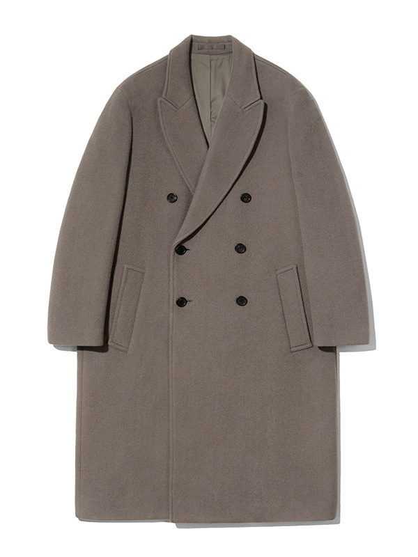 CASHMERE DOUBLE BREASTED COAT JA [BROWN]