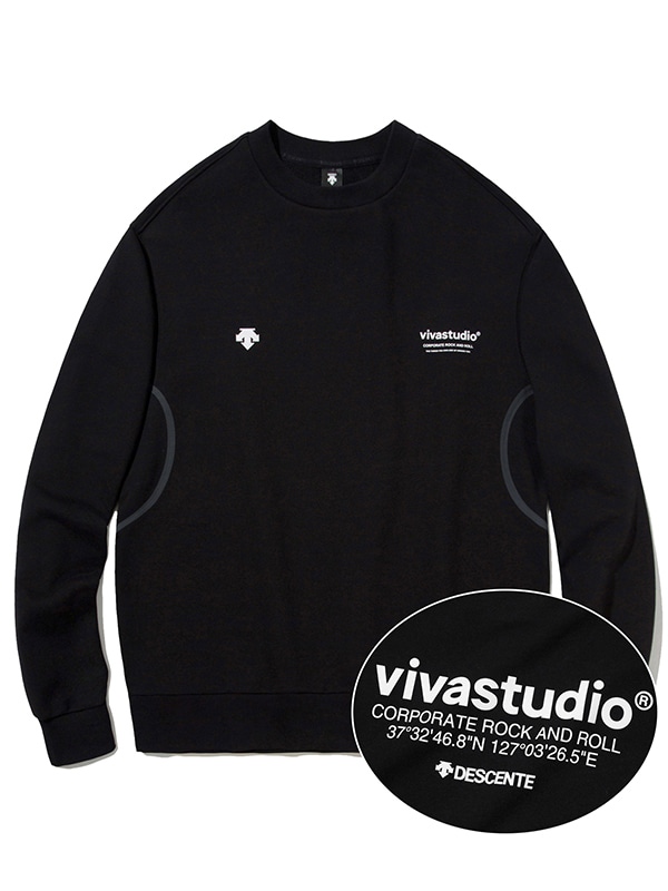 DESCENTE×VIVASTUDIO LOCATION SWEATSHIRT [BLACK]