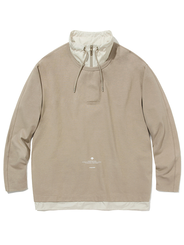 DESCENTE×VIVASTUDIO WOVEN LAYERED SWEATSHIRT [BEIGE]
