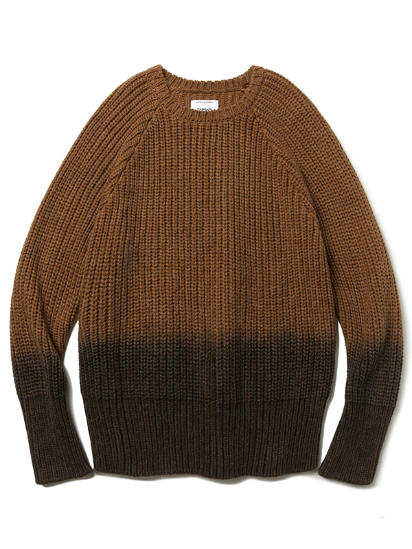 HALF DYEING KNIT JA [BROWN]
