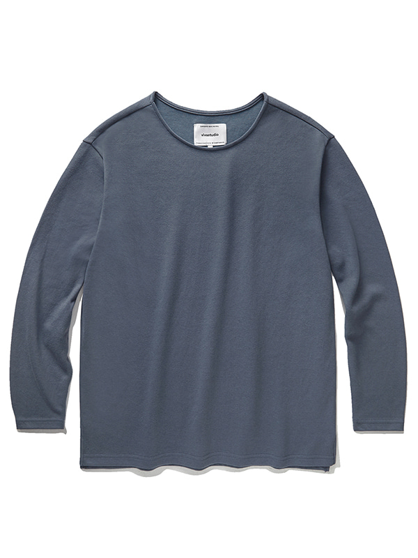 BASIC L/S TEE JA [BLUE GREY]
