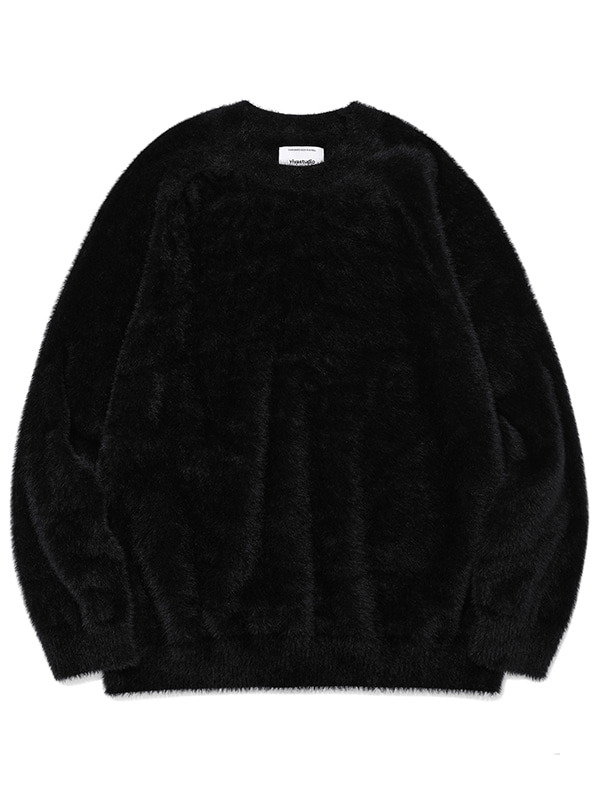 FUR KNIT JA [BLACK]