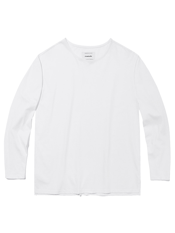 BASIC L/S TEE JA [WHITE]