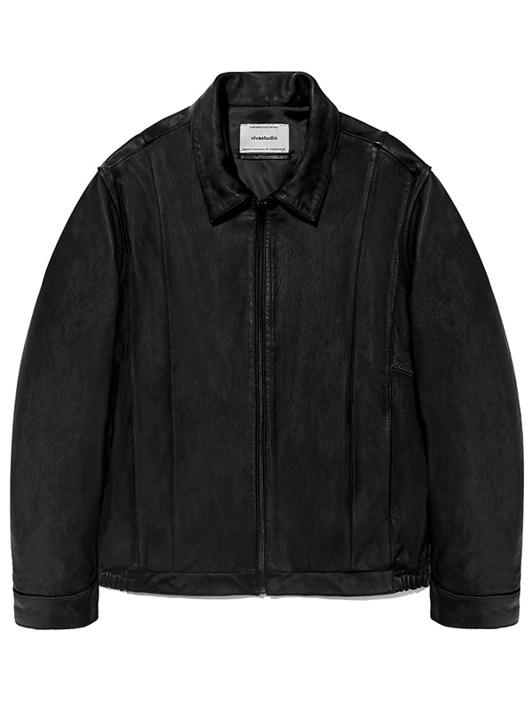LEATHER BLOUSON JA [BLACK]
