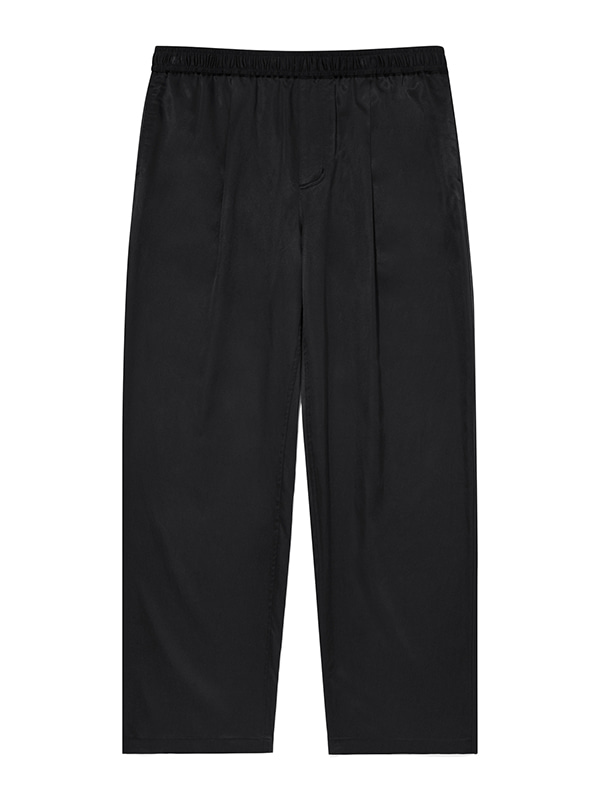 WIDE CUPRA BANDING PANTS JA [BLACK]