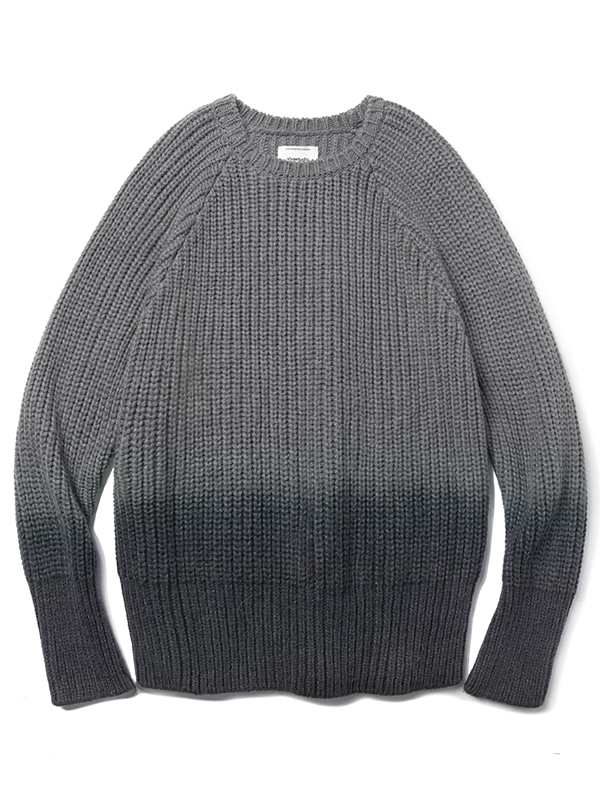 HALF DYEING KNIT JA [GREY]