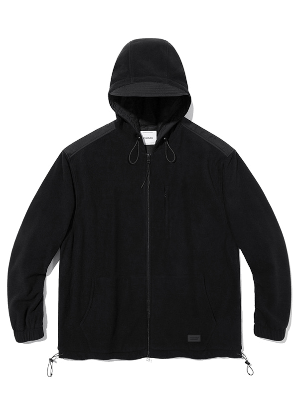 HOODED POLA FLEECE JACKET JA [BLACK]