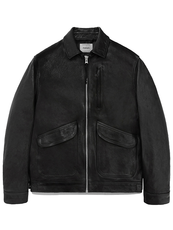 LEATHER CWU JACKET JA [BLACK]