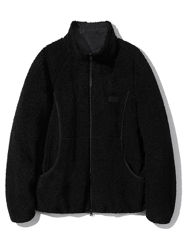 REVERSIBLE FLEECE JACKET JA [BLACK]