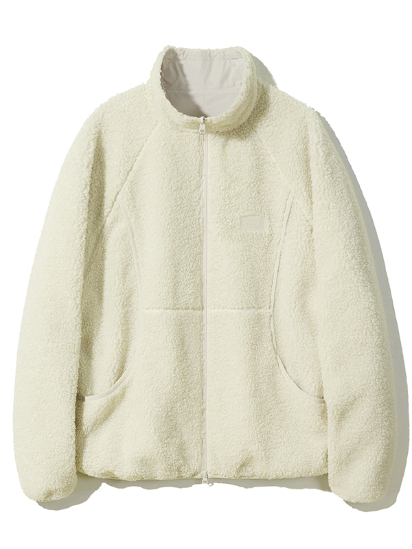 REVERSIBLE FLEECE JACKET JA [IVORY]
