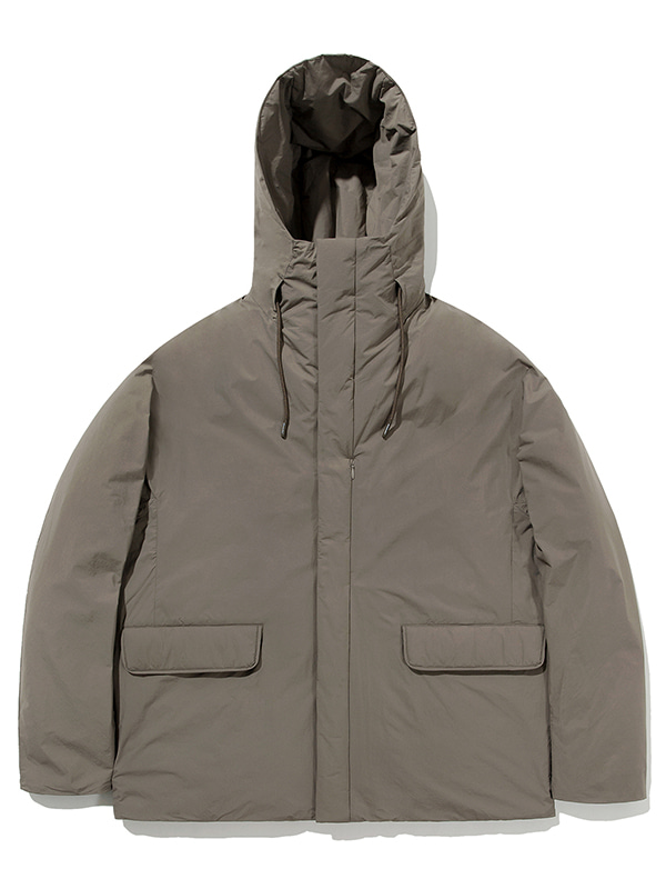 GOOSE DOWN HOODED PARKA JA [BROWN]
