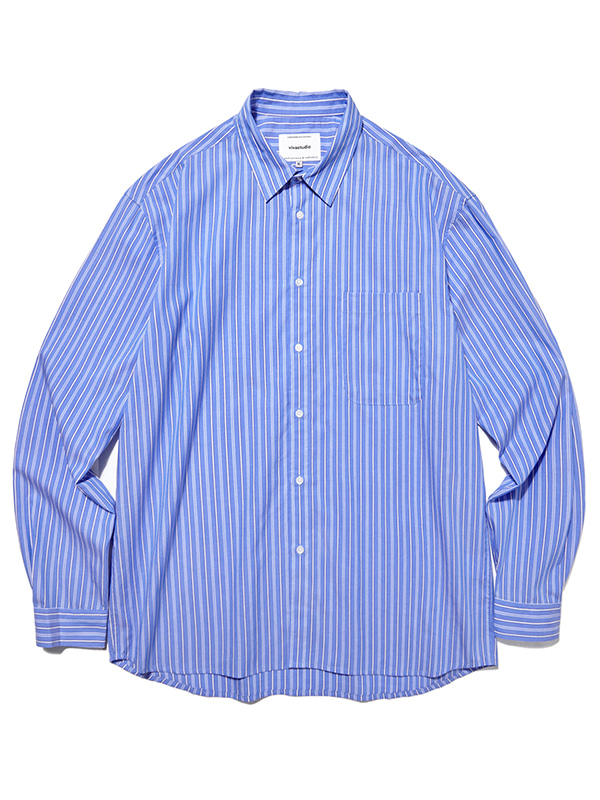 SEMI OVERFIT STRIPE SHIRTS JA [MULTI]