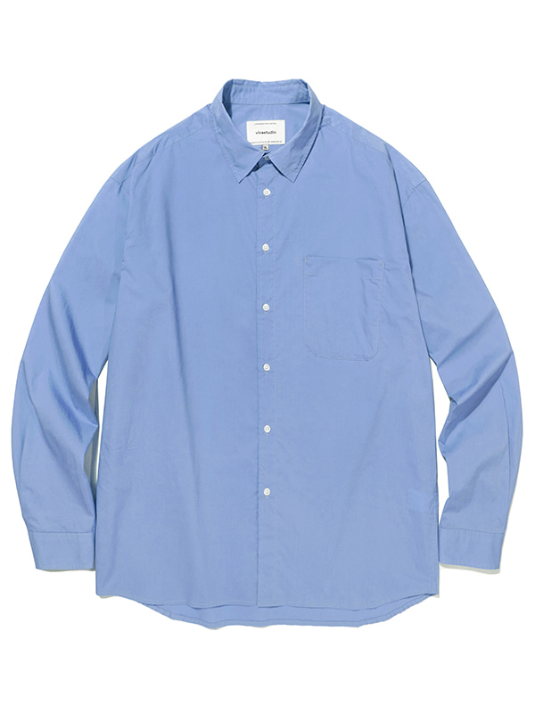 SEMI OVERFIT SOLID SHIRTS JA [BLUE]