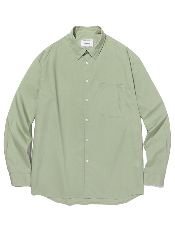 SEMI OVERFIT SOLID SHIRTS JA [GREEN]