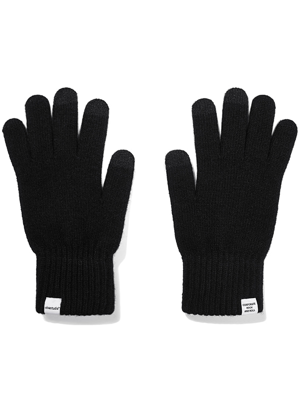 WOOL GLOVE JA [BLACK]