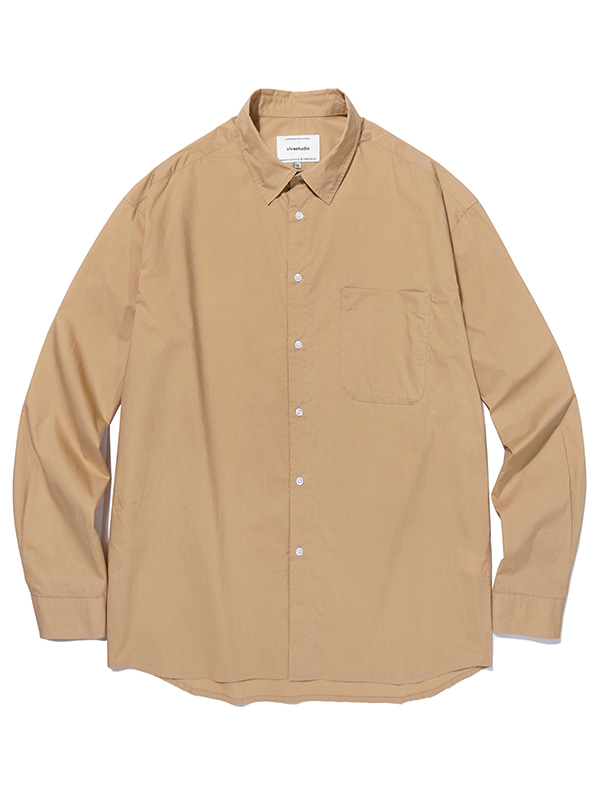 SEMI OVERFIT SOLID SHIRTS JA [BROWN]