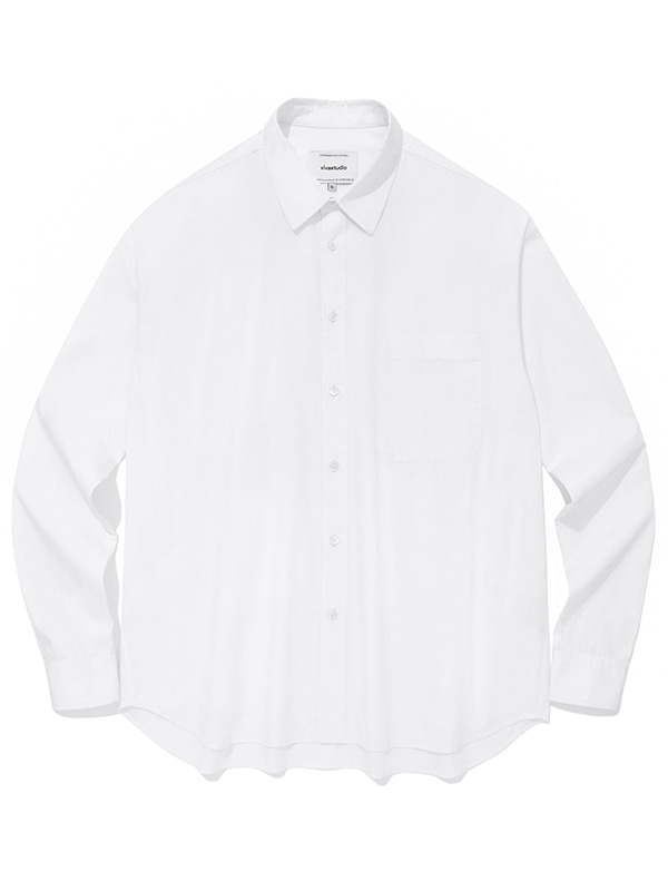 SEMI OVERFIT SOLID SHIRTS JA [WHITE]