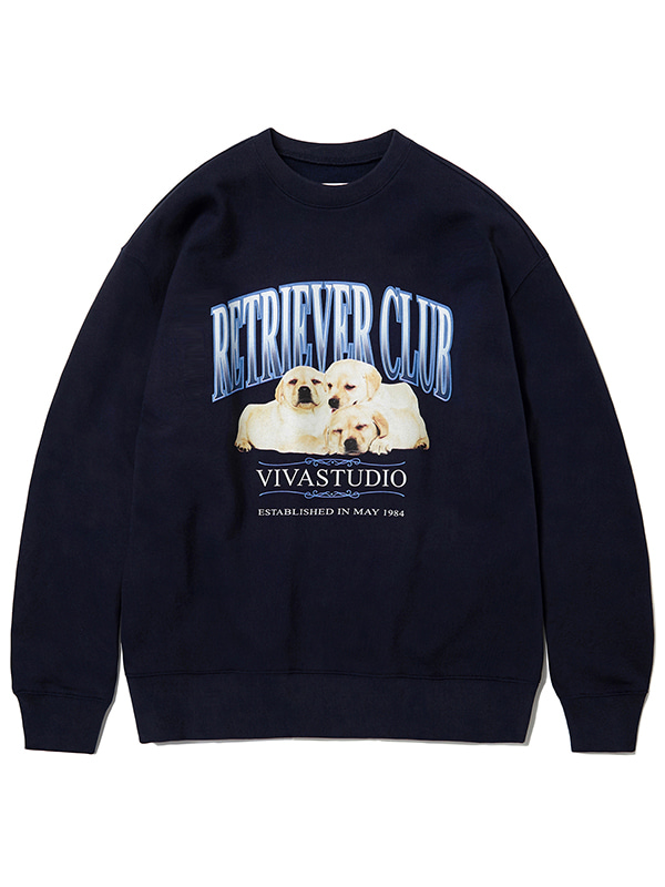 THREE PUPPIES CREWNECK KS [NAVY]
