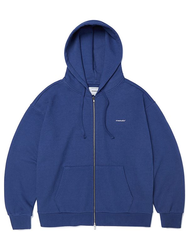 BASIC LOGO HOOD ZIP UP JA [INDIGO BLUE]