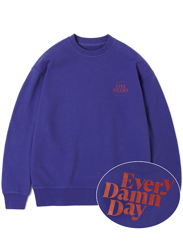 KOMPAKT EVERY DAMN DAY CREWNECK JA [PURPLE]