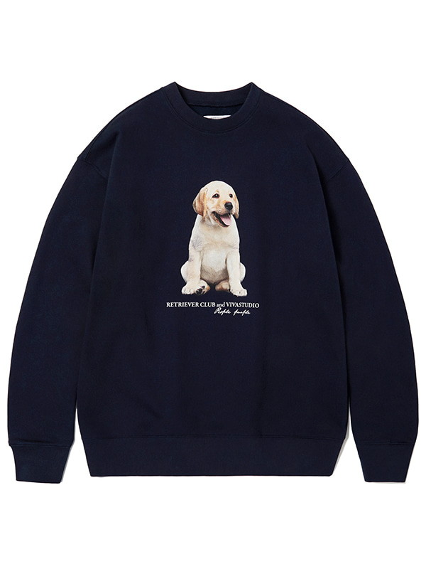 SITTING PUPPY CREWNECK KS [NAVY]